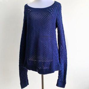 Anthropologie Knitwear Knit Sweater Blue Medium